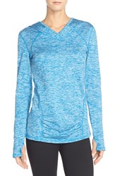 Women's Zella 'First Track' Hooded Pullover Blue Azure