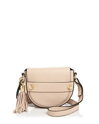 Milly Astor Small Saddle Crossbody Nude Gold