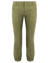 Nili Lotan Stretch Cotton Military Trousers Khaki
