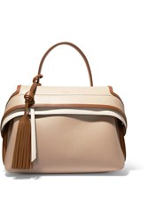 Tod's Wave Small Leather Tote Beige