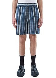 Acne Studios Rye Checked Shorts Blue