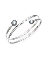 Bcbgeneration A Perfect Match Double Ended Spiral Bangle Bracelet Silver