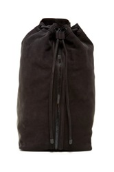 L.A.M.B. Elke Leather Drawstring Satchel Black