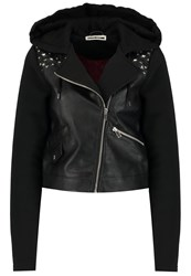 Noisy May Nmtroy Faux Leather Jacket Black Beet Red