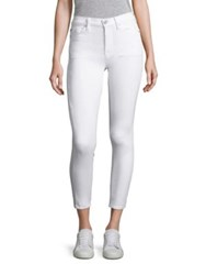 Hudson Nico Skinny Cropped Jeans White