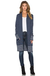 Splendid Needle Stripe Cardigan Navy