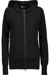 Y 3 Adidas Cotton Hooded Sweater Black