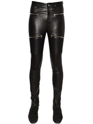Amiri Leather Biker Pants W Zips