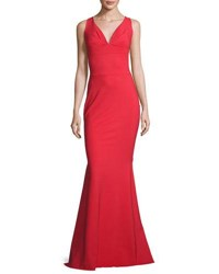 La Petite Robe Di Chiara Boni Sleeveless Stretch Jersey Mermaid Gown Passion