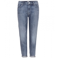 Mother The Groupie Hooked Boyfriend Jeans Washed Blue