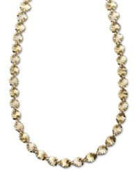 Giani Bernini 24K Gold Over Sterling Silver Necklace 24' Twist Link