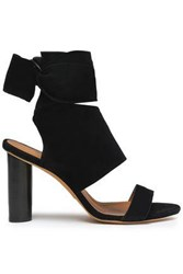 Iro Woman Ditta Bow Detailed Suede Sandals Black
