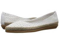 The Flexx Torri White Guanto Stella Women's Flat Shoes