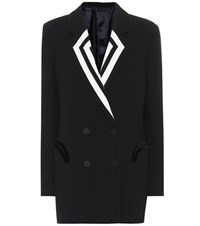 Blaze Milano Double Breasted Wool Blazer Black