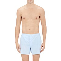Sleepy Jones Men's End On End Boxers Blue