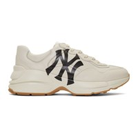 Gucci White Ny Yankees Edition Rython Sneakers