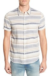 Lucky Brand Stripe Short Sleeve Sport Shirt Multi