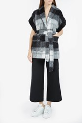 Rodebjer Checked Short Sleeve Jacket Blk Wht