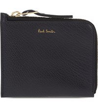 Paul Smith Leather Zip Around Wallet Navy