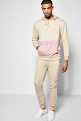 Boohoo And Sew Hooded Tracksuit Baby Pink