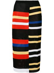 Proenza Schouler Striped Skirt Women Cotton Polyester Viscose Polyimide Xs Black