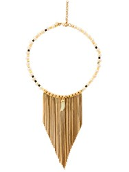 Iosselliani Fringed Pearl And Jade Necklace Gold Pearl