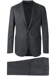 Tonello Two Piece Check Suit Grey