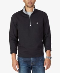 Nautica Men's Big And Tall Quarter Zip Sweatshirt True Black