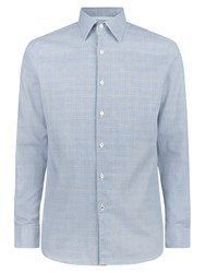 Aquascutum London Tobias Check Shirt Light Blue
