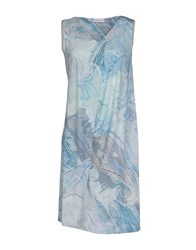 Gran Sasso Dresses Short Dresses Women Sky Blue