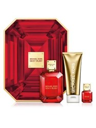 Michael Kors Sexy Ruby Deluxe Gift Set 157.00 Value No Color