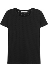 Kain Label Maila Distressed Cotton Jersey T Shirt Black