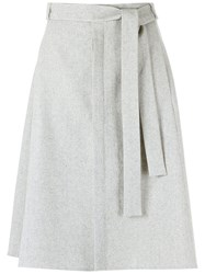 Egrey A Line Skirt Women Cotton 42 Grey
