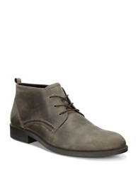 Ecco Derby Leather Ankle Boots Grey