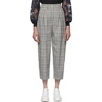 See By Chloe Black And White Curved Check Pants