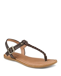 Sperry Flat T Strap Sandals Virginia Brown