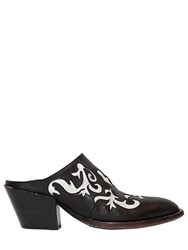 Elena Iachi 50Mm Cowboy Leather Mules