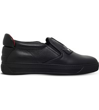 Fendi Monster Lightning Detail Leather Skate Shoes Black