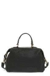 Sole Society Woven Faux Leather Satchel