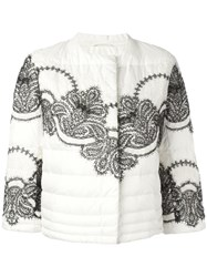 Ermanno Scervino Padded Cropped Jacket White