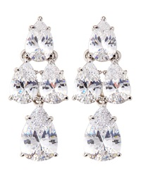 Fantasia Pear Cut Cz Waterfall Earrings