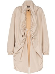 Y Project Double Layer Two Tone Single Breasted Coat Neutrals