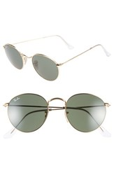Women's Ray Ban 50Mm Rounded Sunglasses Gold Green