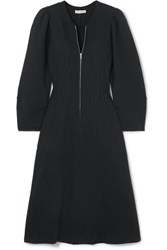 Ulla Johnson Elora Cotton Terry Dress Black