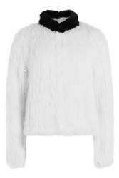 Zadig And Voltaire Rabbit Fur Coat White