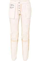 Unravel Project Reversible Distressed Mid Rise Skinny Jeans White