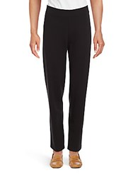 Magaschoni Solid Pull On Pants Black