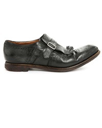 Churchs Shanghai Black Aged Leather Golf Shoes