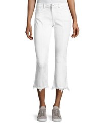 Dl1961 Lara Instasculpt Cropped Flare Pintuck Jeans White