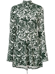 Rosie Assoulin Paisley Printed Mini Dress Green